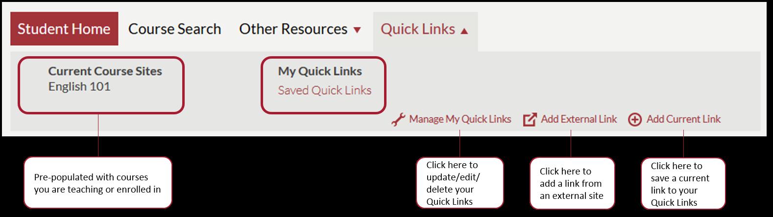 Using Quick Links in my harvard - IT Help